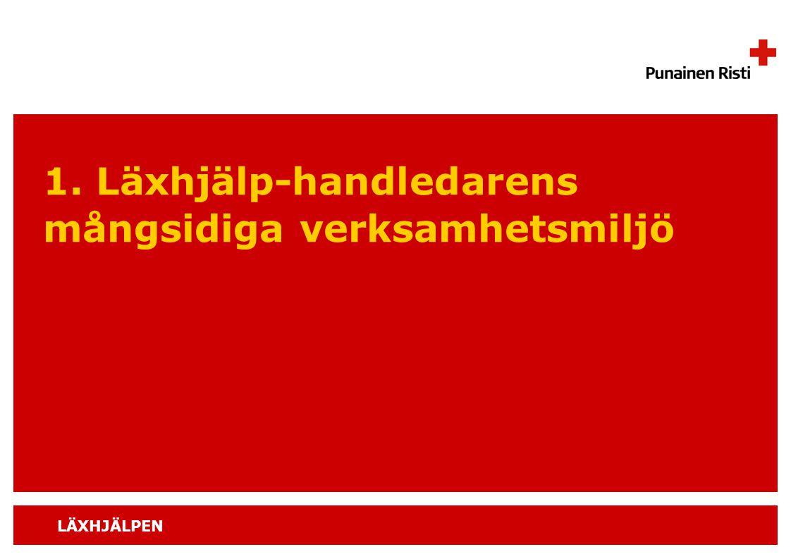 1. Läxhjälp-handledarens mångsidiga verksamhetsmiljö