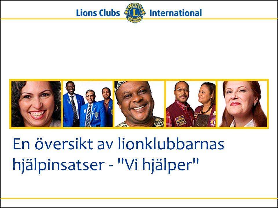 En översikt av lionklubbarnas hjälpinsatser - Vi hjälper