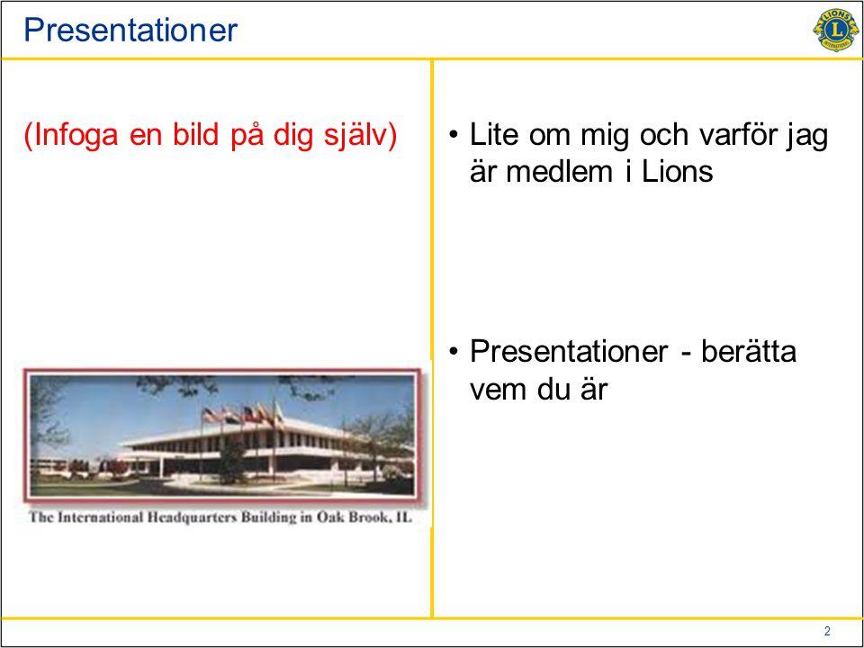 Presentationer (Infoga en bild på dig själv)
