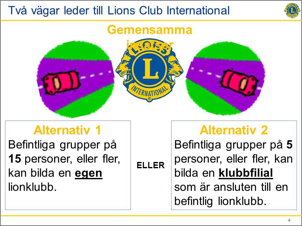 Två vägar leder till Lions Club International