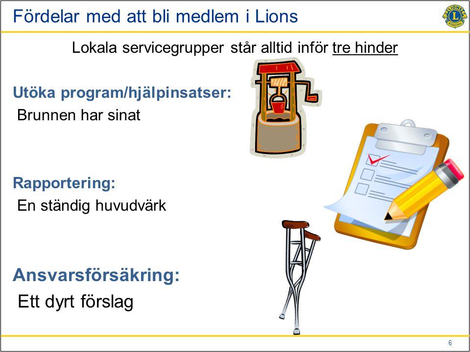 Fördelar med att bli medlem i Lions