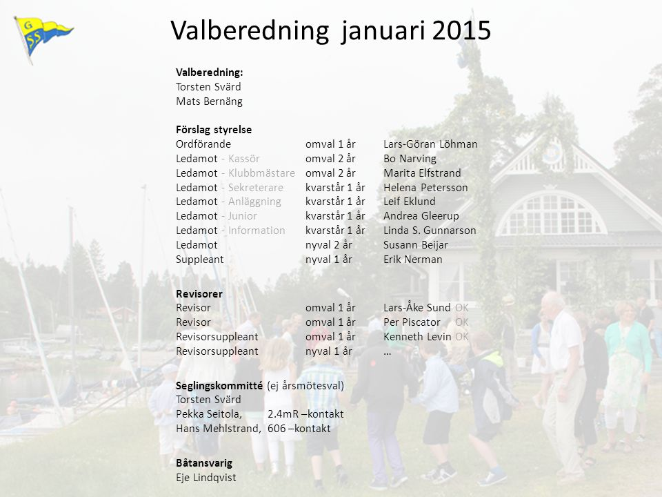 Valberedning januari 2015
