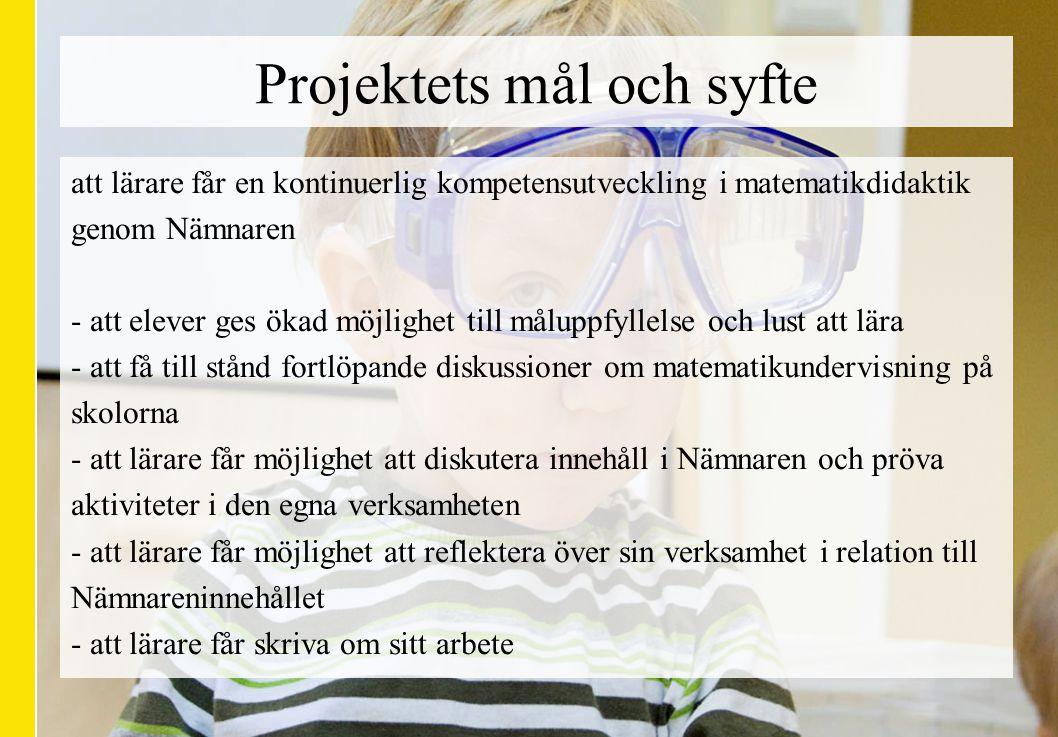 Projektets mål och syfte
