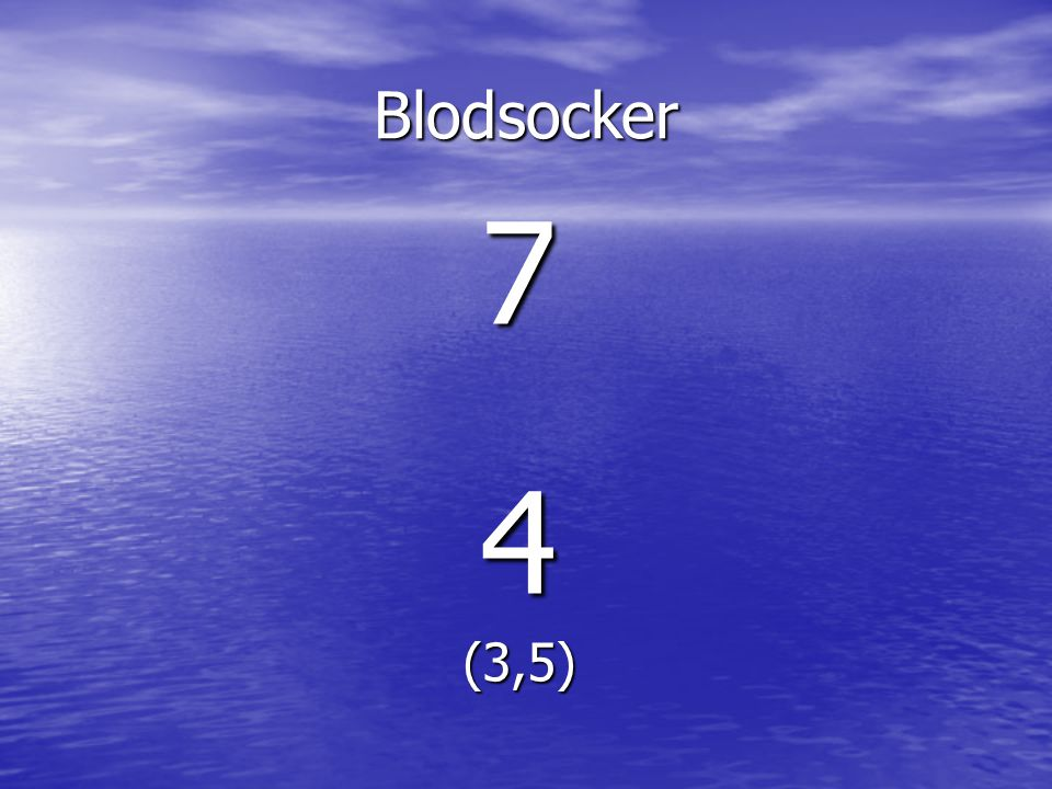 Blodsocker 7 4 (3,5)
