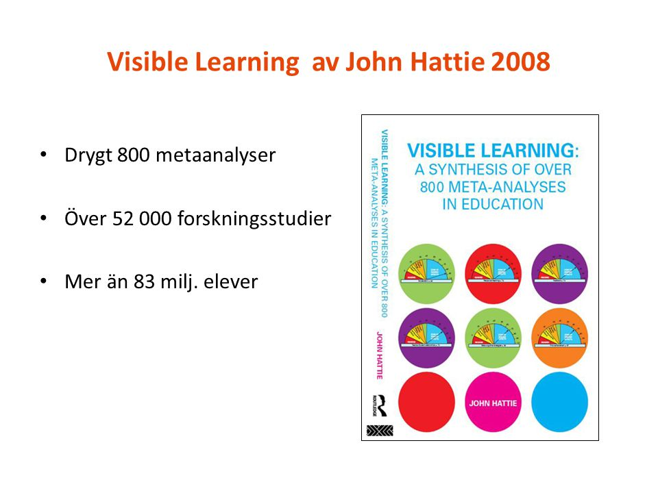 Visible Learning av John Hattie 2008
