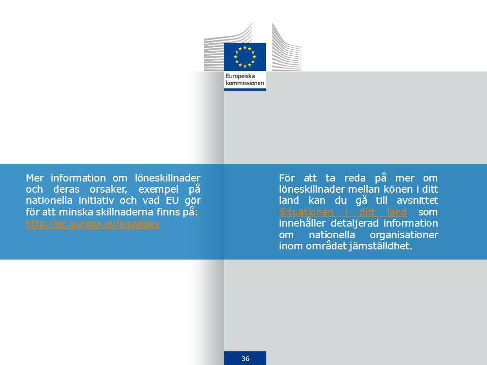 Mer information om löneskillnader och deras orsaker, exempel på nationella initiativ och vad EU gör för att minska skillnaderna finns på:
