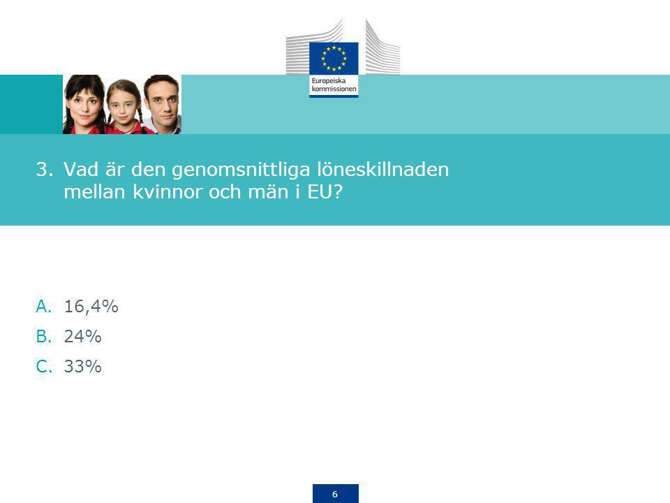 Vad är den genomsnittliga löneskillnaden mellan kvinnor och män i EU