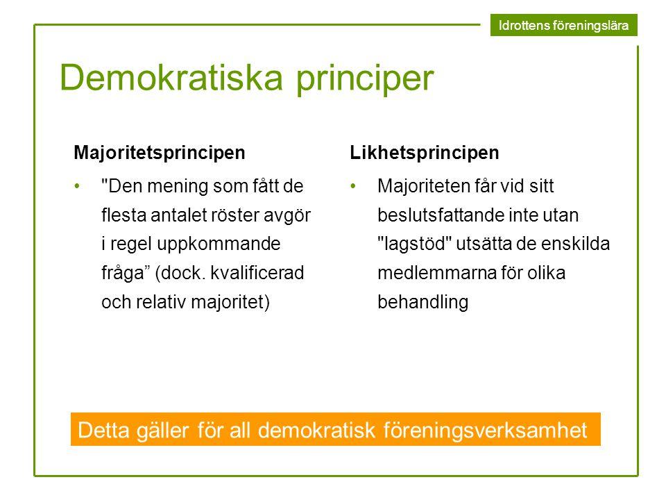 Demokratiska principer