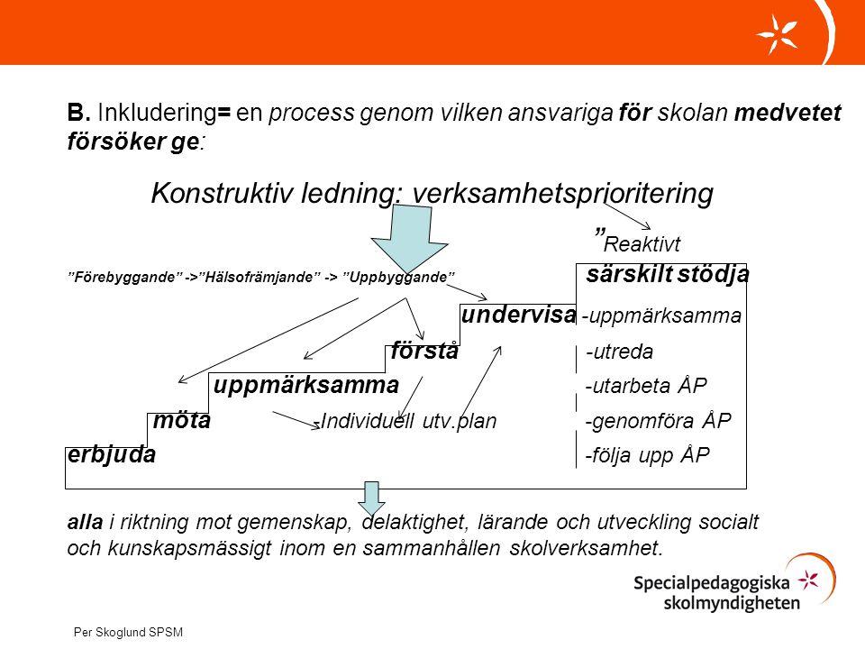 Konstruktiv ledning: verksamhetsprioritering