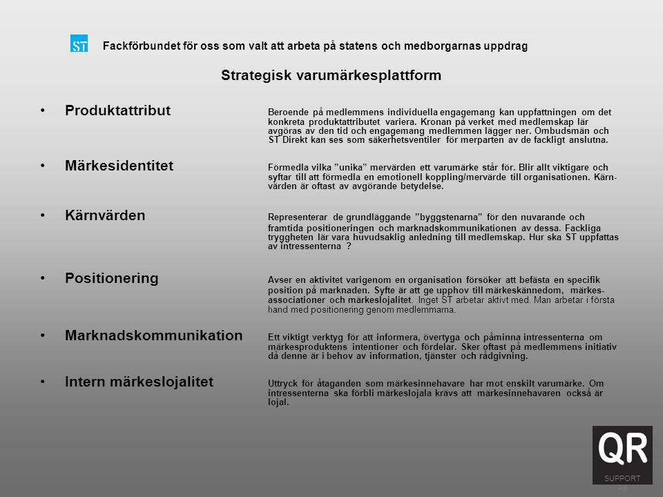 Strategisk varumärkesplattform