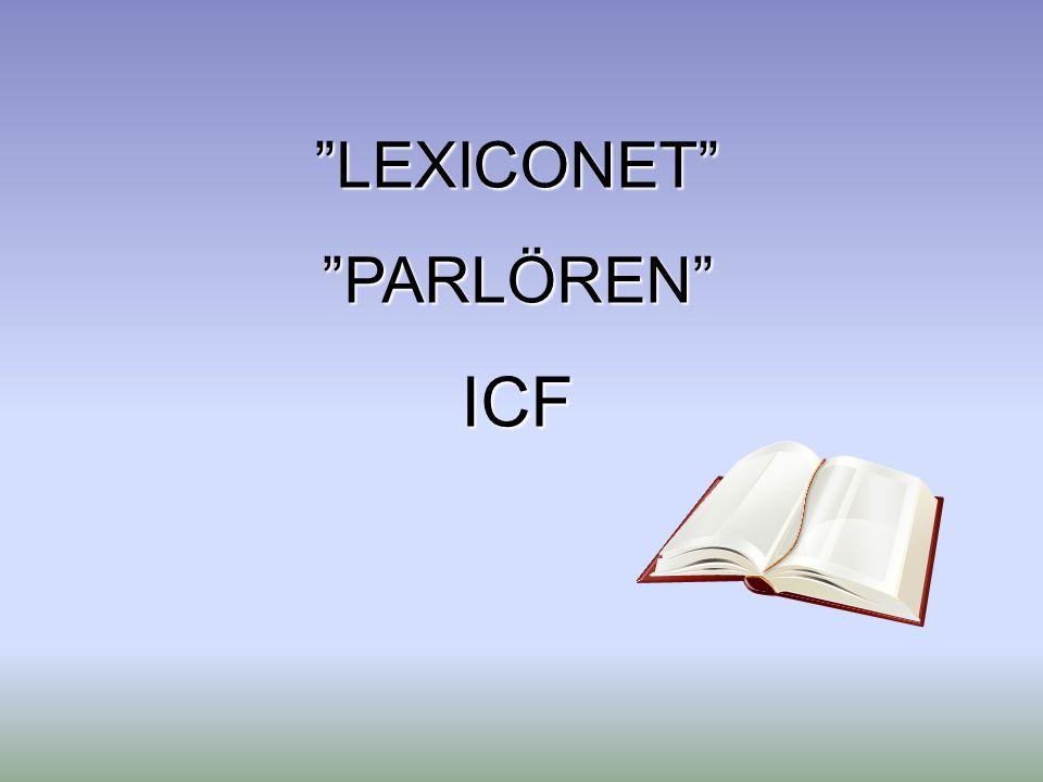 LEXICONET PARLÖREN ICF