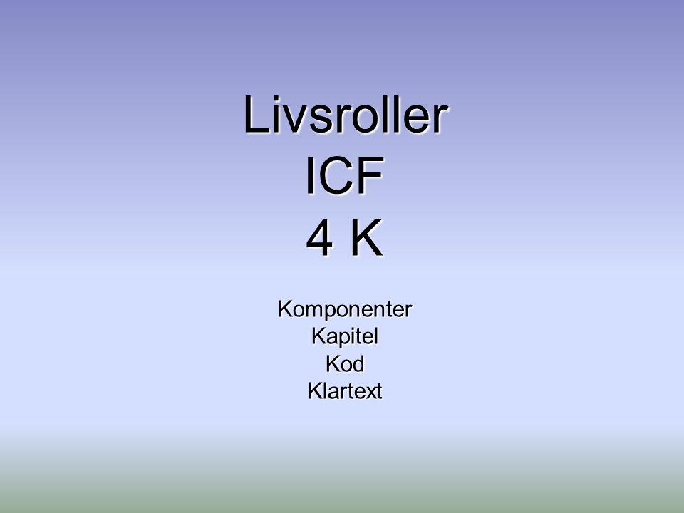 Livsroller ICF 4 K Komponenter Kapitel Kod Klartext