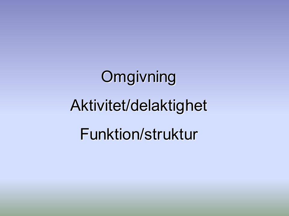 Aktivitet/delaktighet