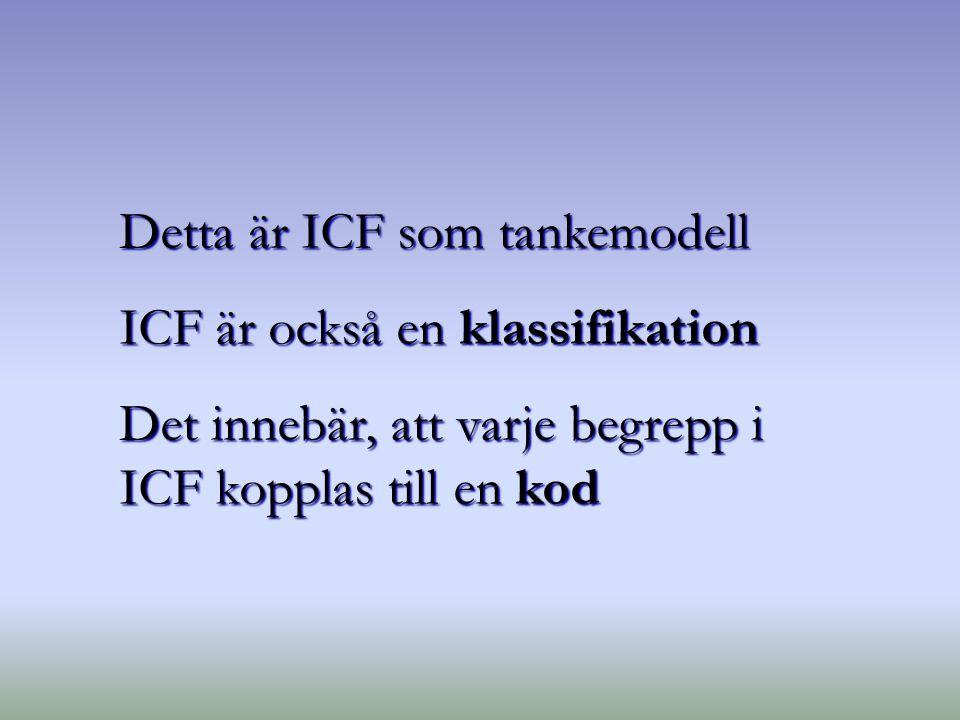 Detta är ICF som tankemodell