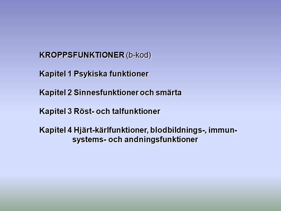 KROPPSFUNKTIONER (b-kod)