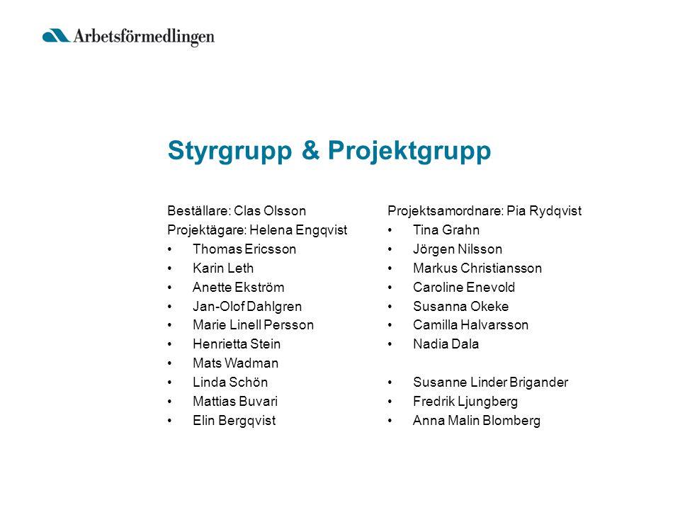 Styrgrupp & Projektgrupp