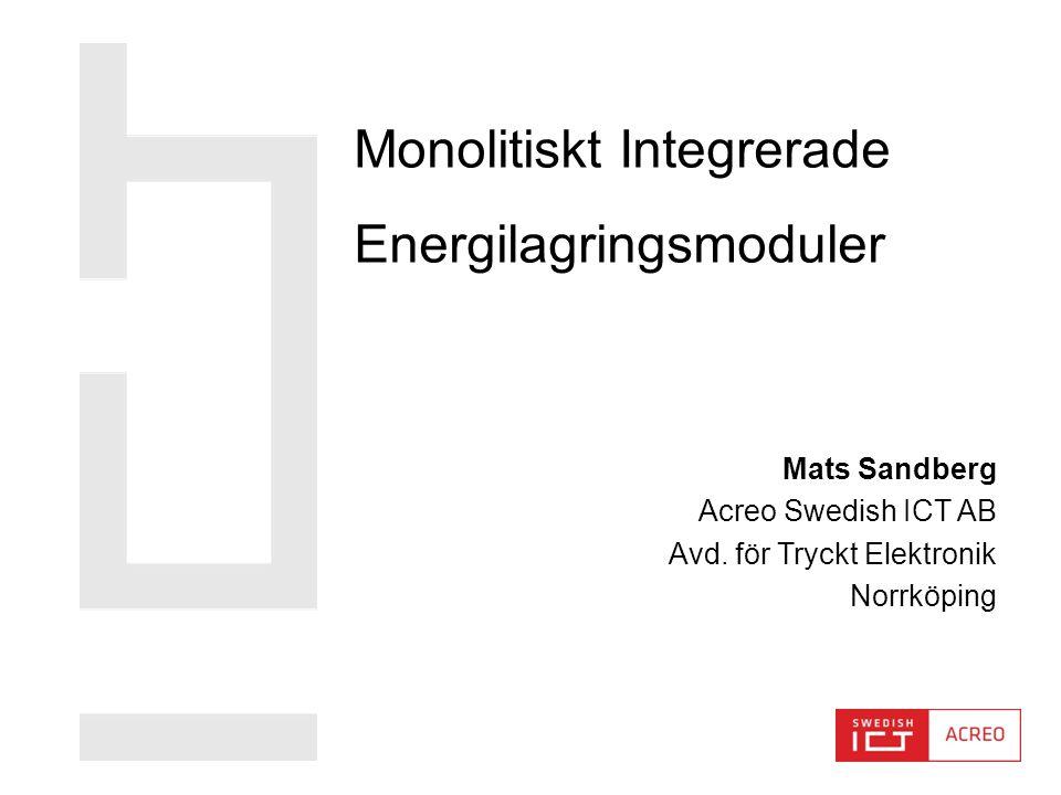 Monolitiskt Integrerade Energilagringsmoduler