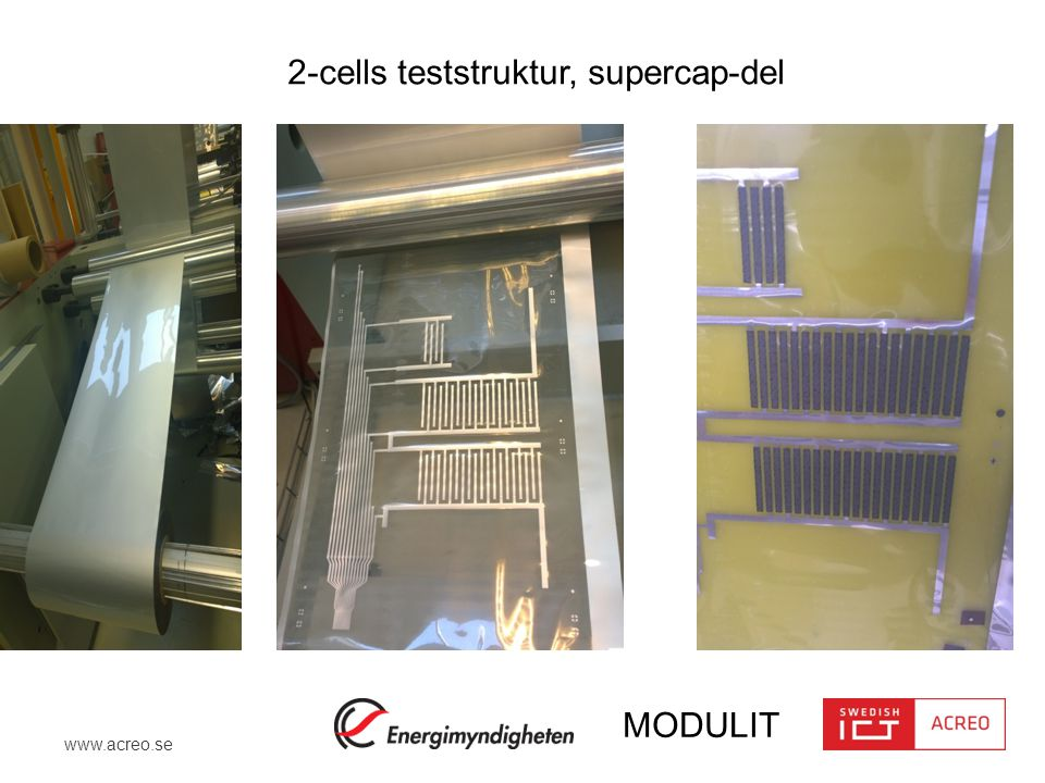 2-cells teststruktur, supercap-del
