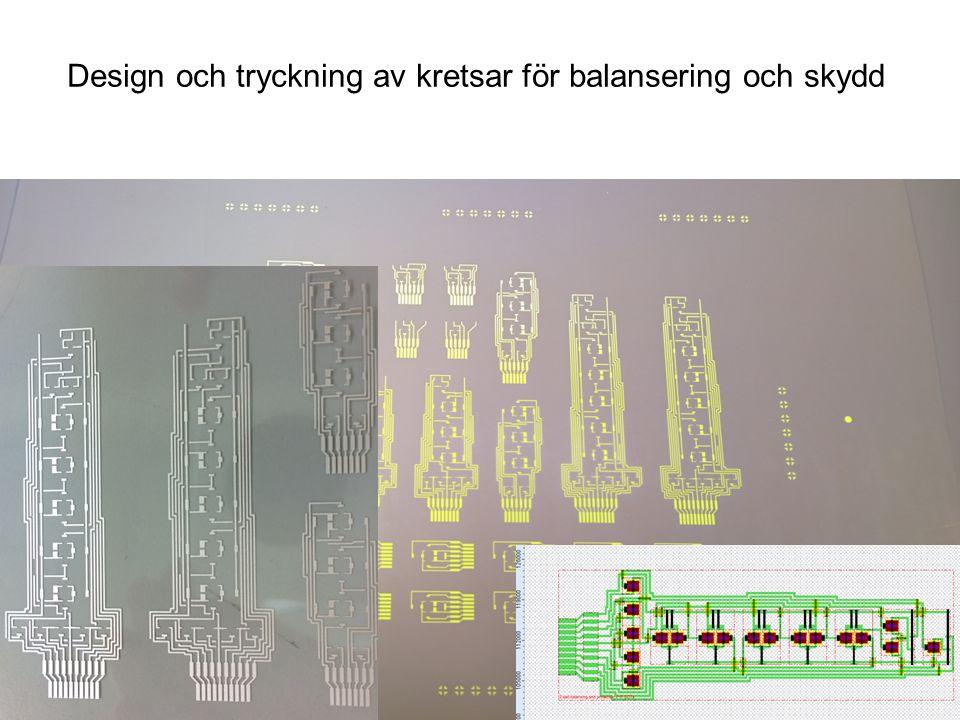 Design och tryckning av kretsar för balansering och skydd