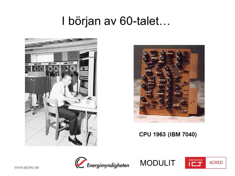 I början av 60-talet… CPU 1963 (IBM 7040)