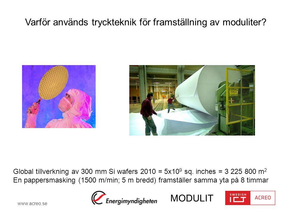 Varför används tryckteknik för framställning av moduliter