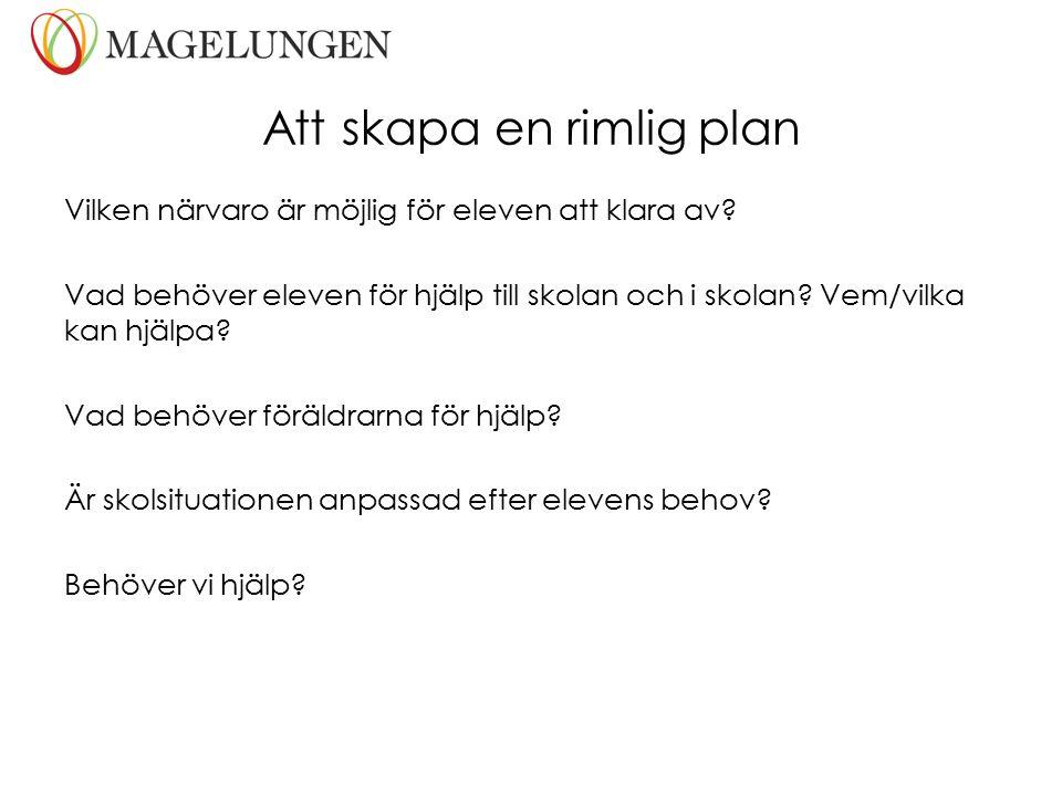 Att skapa en rimlig plan