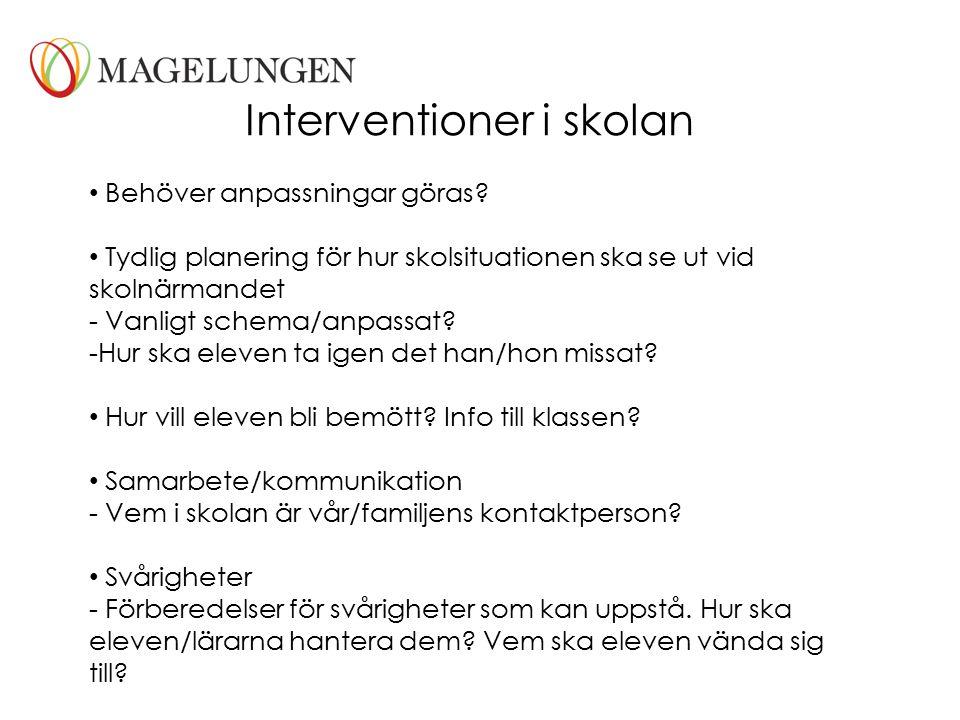 Interventioner i skolan
