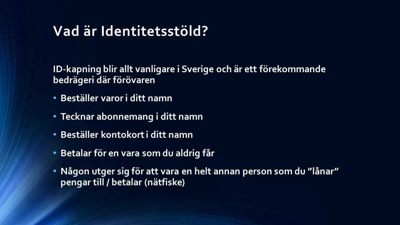 Vad är Identitetsstöld