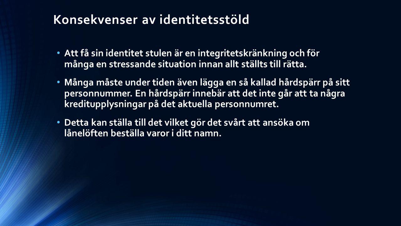 Konsekvenser av identitetsstöld