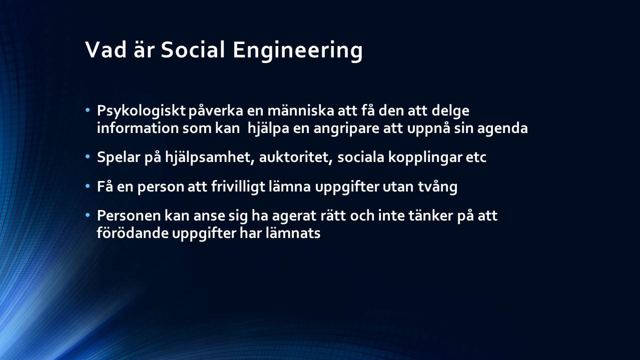 Vad är Social Engineering