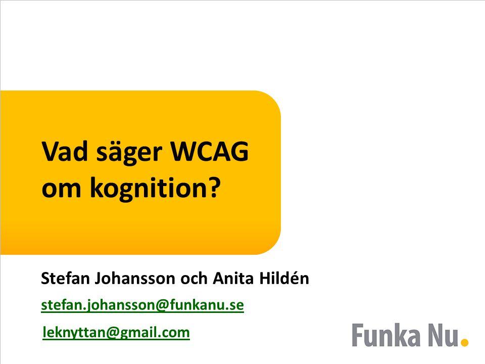 Vad säger WCAG om kognition