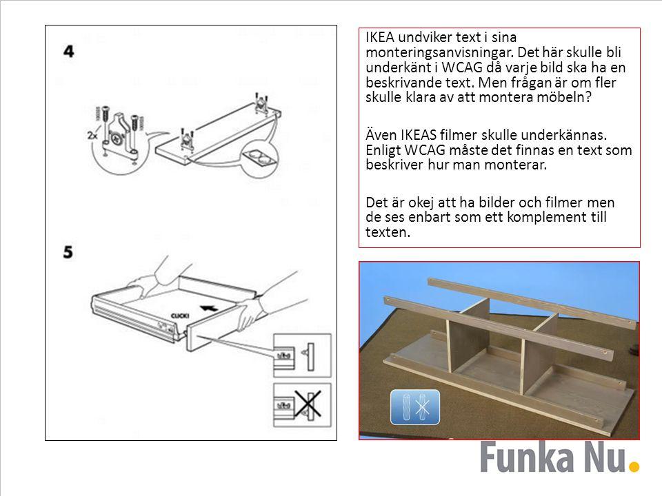 IKEA undviker text i sina monteringsanvisningar