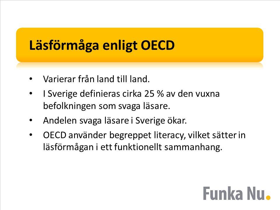 Läsförmåga enligt OECD