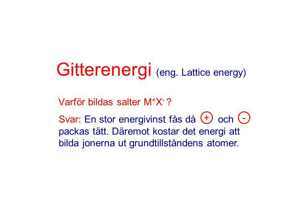 Gitterenergi (eng. Lattice energy)