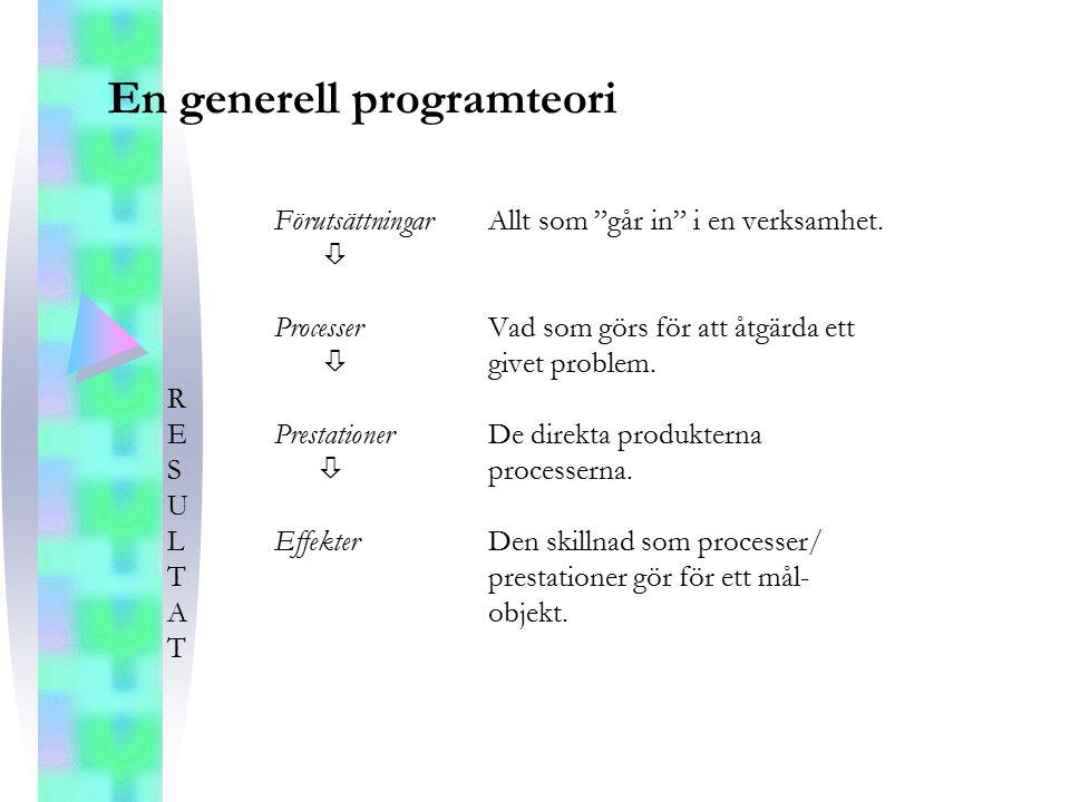 En generell programteori