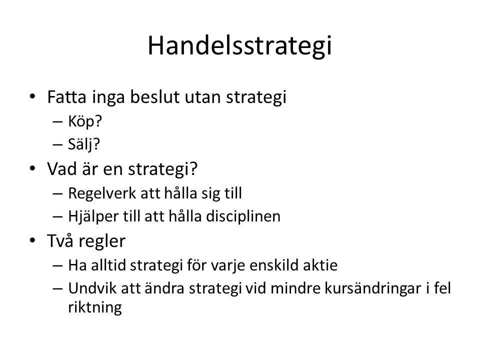 Handelsstrategi Fatta inga beslut utan strategi Vad är en strategi