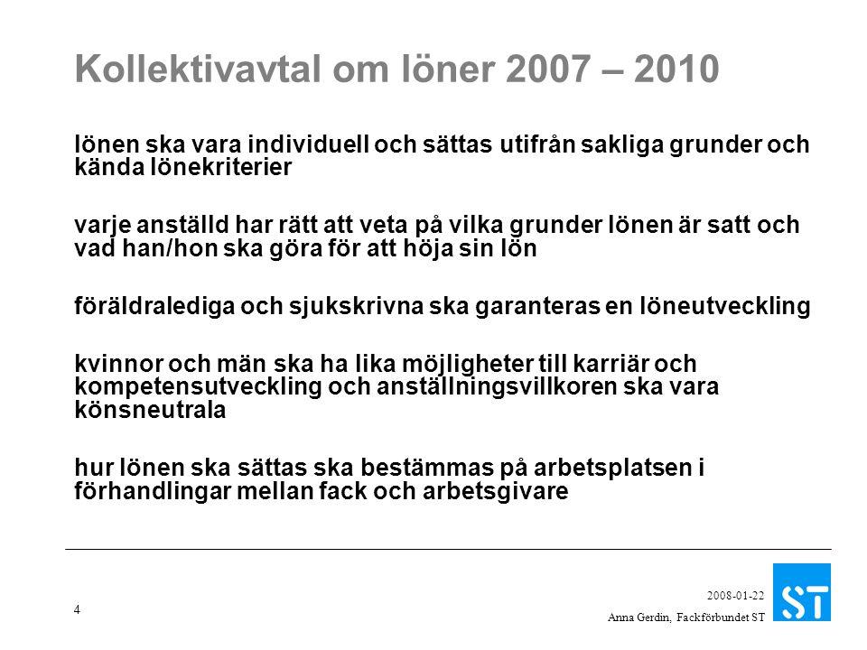 Kollektivavtal om löner 2007 – 2010