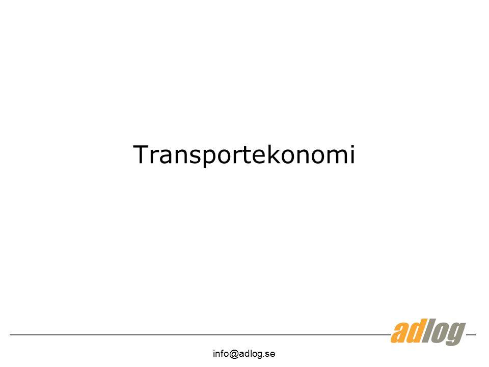 Transportekonomi info@adlog.se