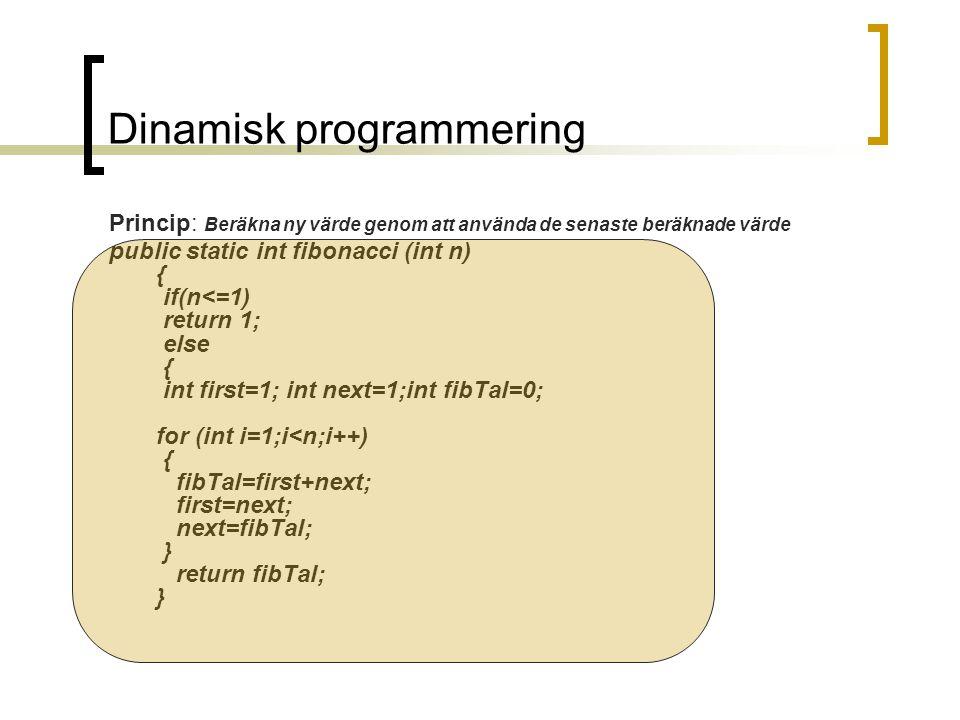 Dinamisk programmering