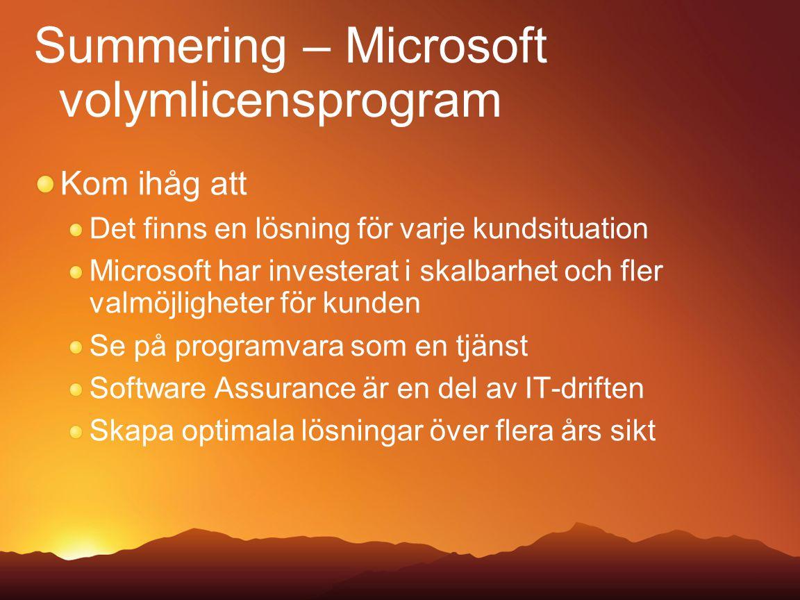 Summering – Microsoft volymlicensprogram