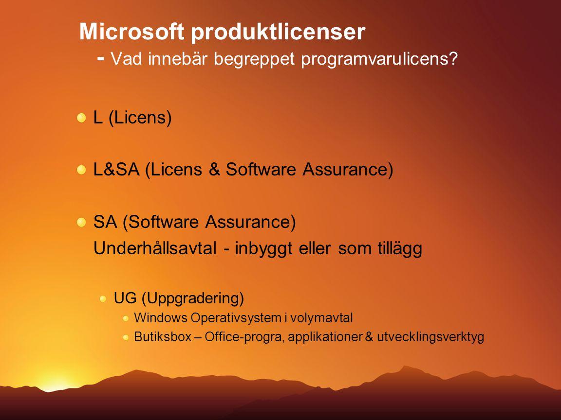 Microsoft produktlicenser - Vad innebär begreppet programvarulicens