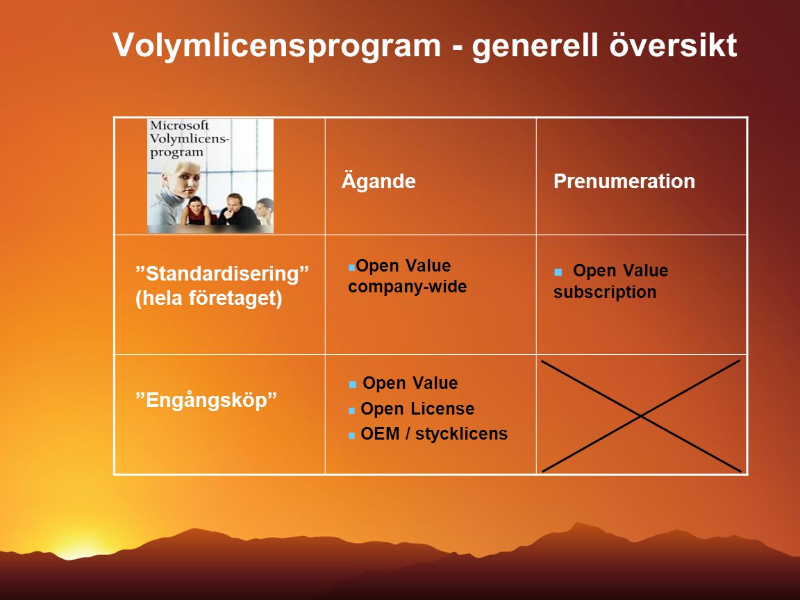 Volymlicensprogram - generell översikt