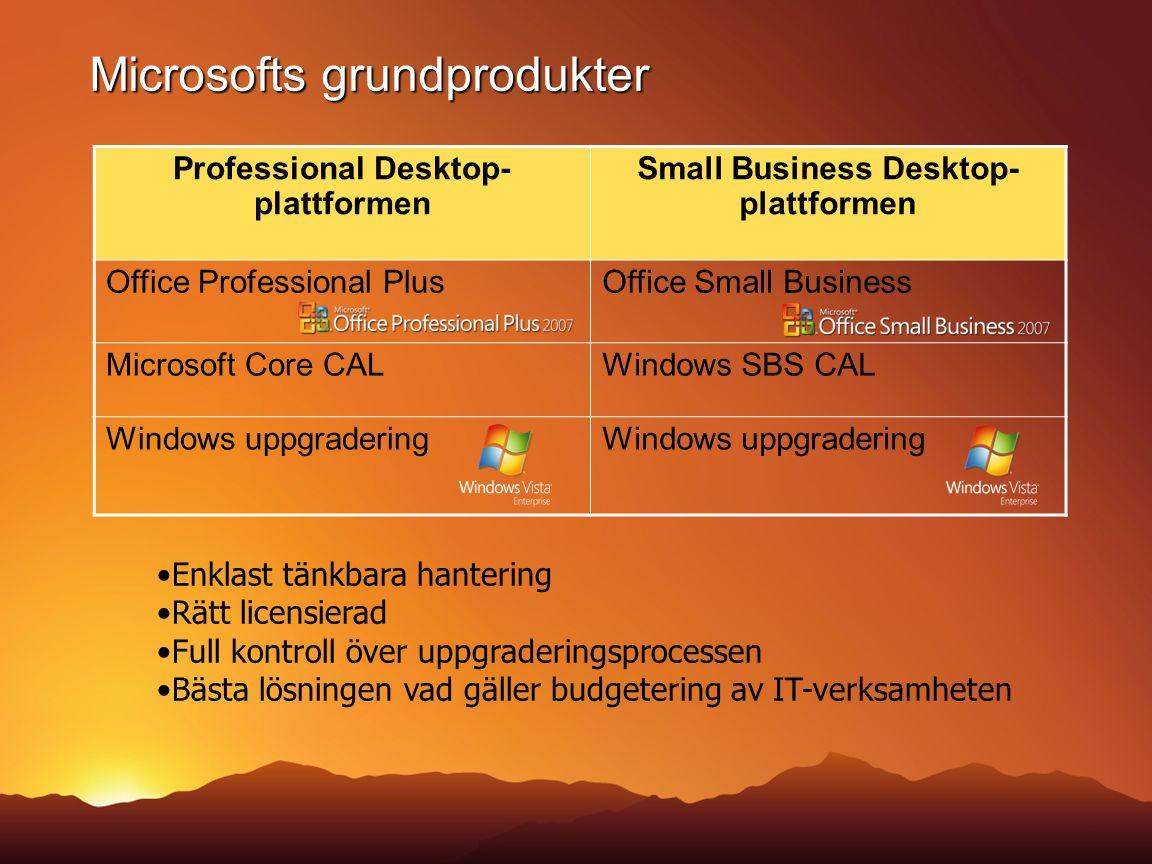 Microsofts grundprodukter