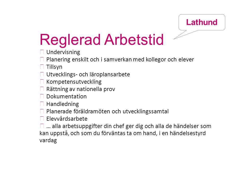 Reglerad Arbetstid Lathund  Undervisning