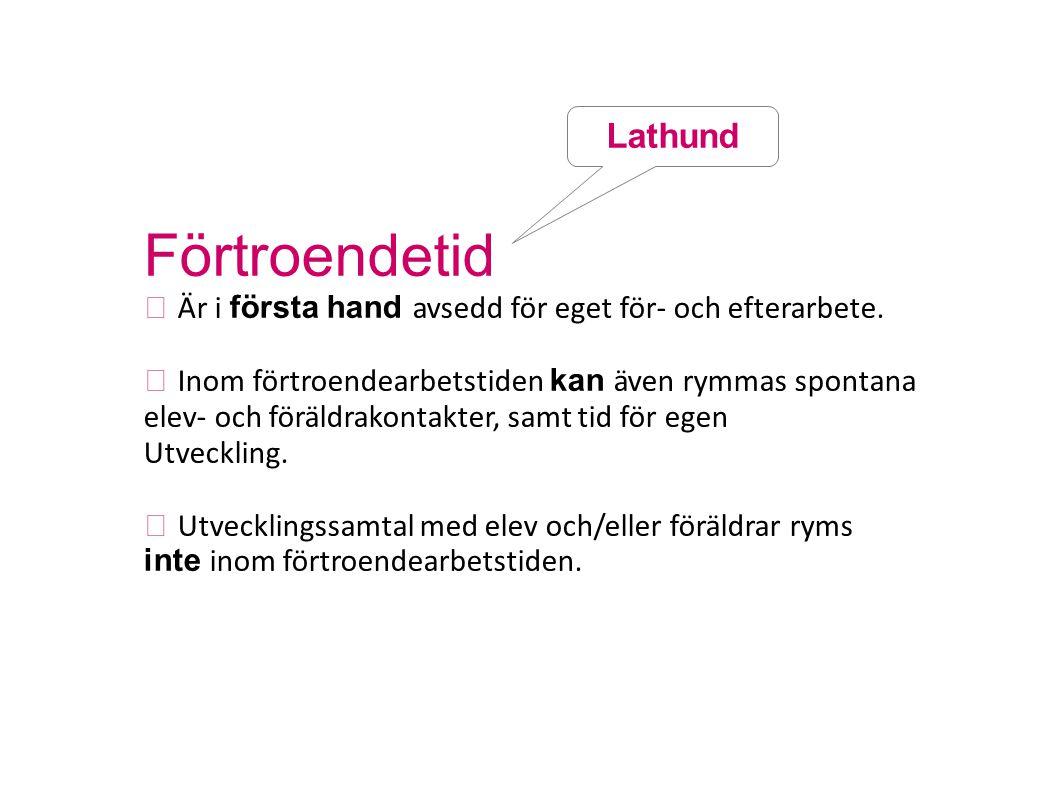 Förtroendetid Lathund