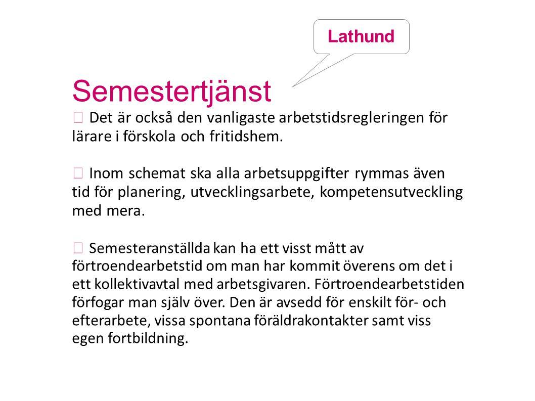 Semestertjänst Lathund