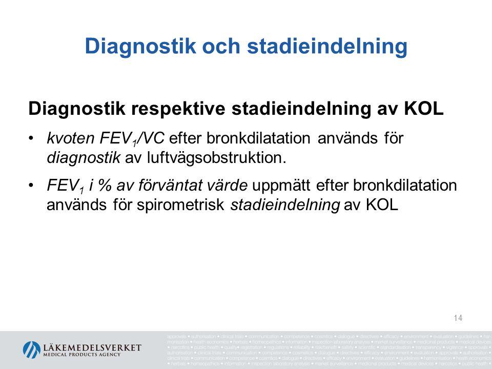 Diagnostik och stadieindelning