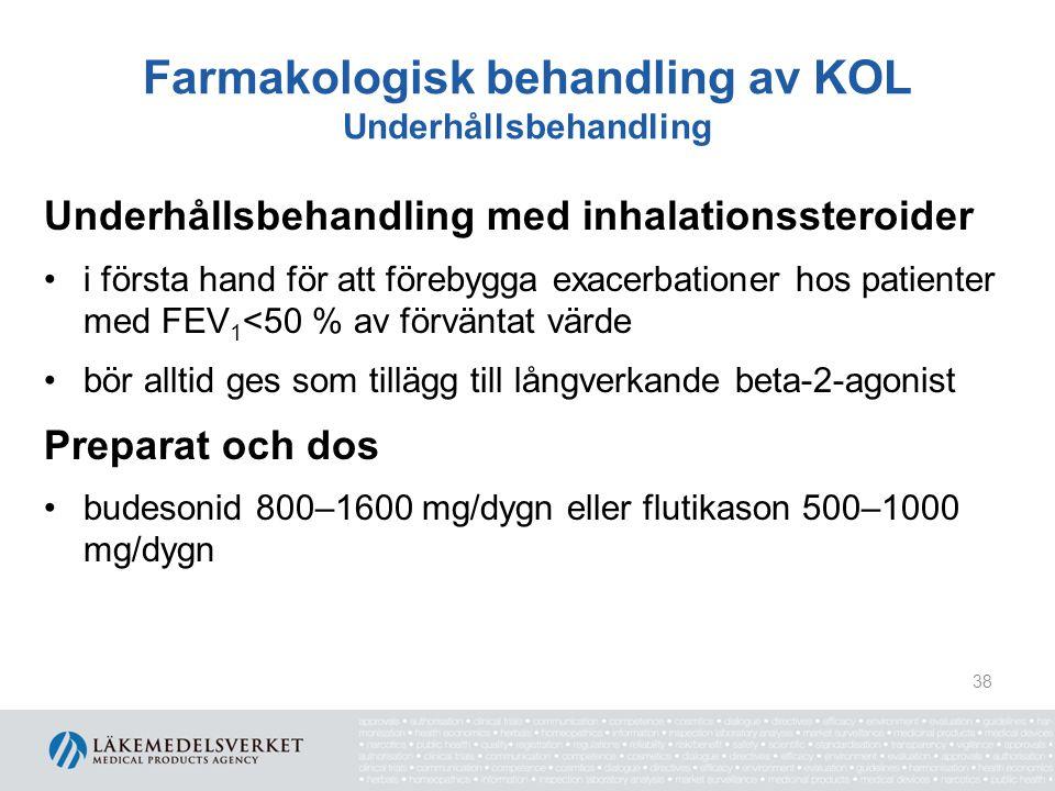 Farmakologisk behandling av KOL Underhållsbehandling