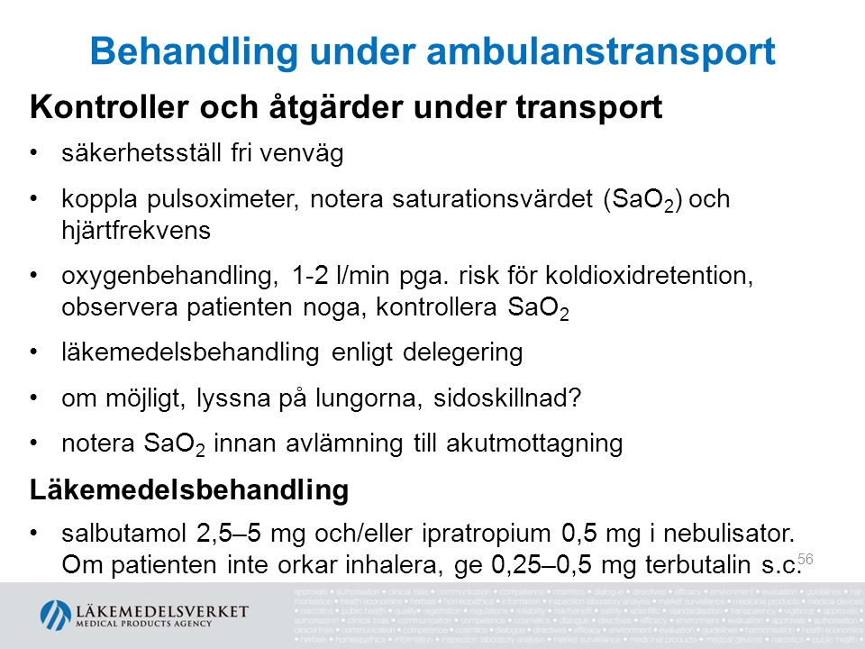 Behandling under ambulanstransport