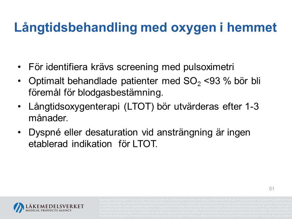 Långtidsbehandling med oxygen i hemmet